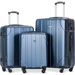 Merax Luggage Sets with TSA Locks, 3 Piece Lightweight P.E.T Luggage 20inch 24inch 28inch