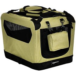 AmazonBasics Premium Folding Portable Soft Pet Dog Crate Carrier Kennel – 21 x 15 x 15 Inc ...