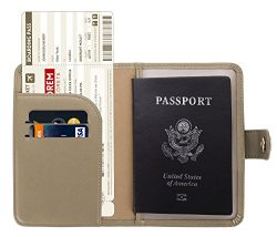 Zoppen Rfid Blocking Travel Passport Holder Cover Slim Id Card Case (#11 Hazy Taupe)