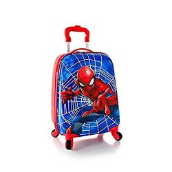 Heys Marvel Spider Man Kids Hardside Spinner Luggage – 18 Inch [ Blue ]