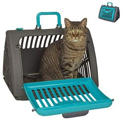 Pet Travel Carrier for Cat and Dog, NXKang Foldable Travel Cat Carrier Front Door Plastic Collap ...