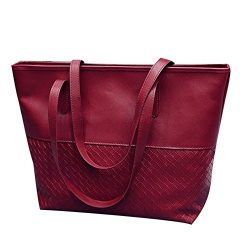 DreamedU Leather Tote Bag for Women Shoulder Bag Large Teacher Laptop Utility Waterproof Travel  ...