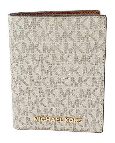Michael Kors Jet Set Travel Passport Holder Wallet Case Vanilla PVC 2019