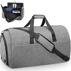 Garment Bags Convertible Suit Travel Bag with Shoes Compartment Waterproof Large Carry on Duffel ...
