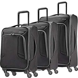American Tourister 3-Piece Set, Black/Grey