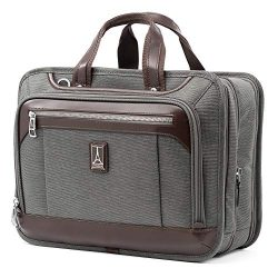 Travelpro Luggage Platinum Elite 16″ Expandable Business Briefcase, Vintage Grey, One Size