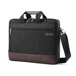 Samsonite Kombi Slimbrief Briefcase, Black/Brown, One Size