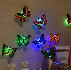 Haluoo Fashion Butterfly Stickers 12 Pcs, Stylish Waterproof PVC Sticker Decals for Kids,Laptop, ...