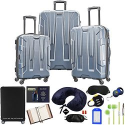 Samsonite 102691-1101 Centric 3pc Nested Hardside 20/24/28 Luggage Set – Blue Slate Bundle ...