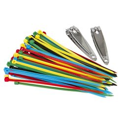 Travelon Travel Accessories Secure-A-Bag Cable Ties – Multi-Color