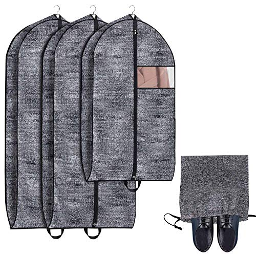 Onlyeasy Garment Bags Suit Bag for Travel and Clothing Storage of Dresses, Jackets, Shirts, Coat ...