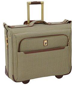 London Fog Cambridge II 44″ Wheeled Garment Bag, Olive Houndstooth