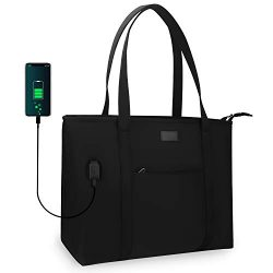Laptop Tote Bag for Men and Women Business Work Teacher School USB Bag Briefcase Travel Fits 15. ...
