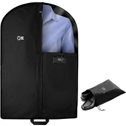 Luxury Garment Bag for Storage and Travel Carry On | 40 Inch + 5 In Gusset | Suit Jacket, Women  ...
