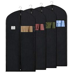Syeeiex Garment Bag Suit Bags for Storage and Travel 60-inch Dust Cover Breatbable Garment Bags  ...