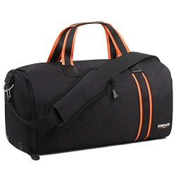 Gym Bag with Shoes Compartment,Dry Wet Separation Layer,Foldable Waterproof Travel Duffle Bag fo ...