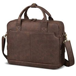 Leather Briefcases for Men Laptop Briefcase Travel Business Messenger Bag for Men Computer Bag R ...