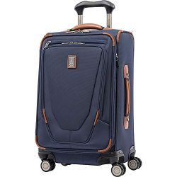 Travelpro Luggage Crew 11 21″ Carry-on Expandable Spinner w/Suiter and USB Port, Patriot Blue