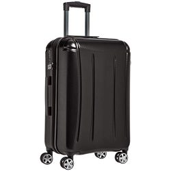 AmazonBasics Oxford Expandable Spinner Luggage Suitcase with TSA Lock – 24 Inch, Black