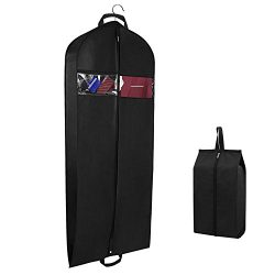Syeeiex 60 Inch Garment Travel Bag Dust Cover Dress Bag with Zipper Pockets and Shoe Bag for Tux ...