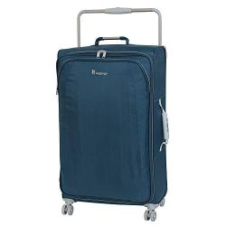 IT Luggage 27.6″ World's Lightest 8 Wheel Spinner, Ashes with Vapor Blue Trim