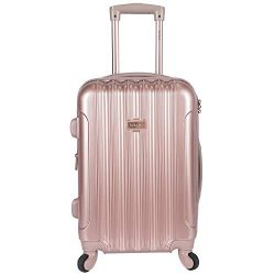 "kensie 20″ ""Alma"" Carry-On TSA-Lock Spinner Luggage, Rose Gold"