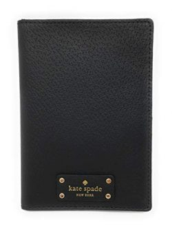 Kate Spade New York Grove Street Imogene Leather Passport Cover Wallet (Black)