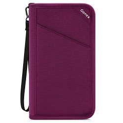 Gonex Passport Holder Travel Wallet Document Holder Pouch Organizer Case RFID Blocking for Women ...