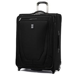 Travelpro Luggage Crew 11 26″ Expandable Rollaboard Suitcase w/Suiter, Black