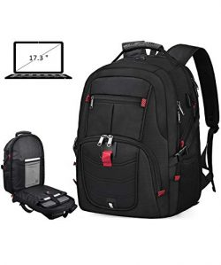 Laptop Backpack 17 Inch Waterproof Extra Large TSA Travel Backpack Anti Theft College School Bus ...