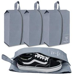 eachway Travel Shoe Bags Set of 4 Waterproof Nylon with improved Zipper for Men & Women (Lig ...