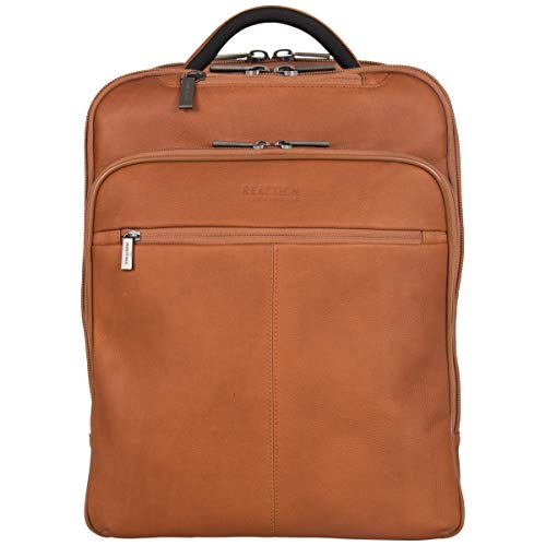 Kenneth Cole Reaction Back-Stage Access Slim Colombian Leather TSA Checkpoint-Friendly 16″ ...