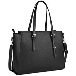 Laptop Bag for Women 15.6 Inch Waterproof Laptop Tote Bag Large Leather Computer Briefcase Women ...