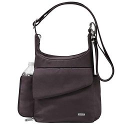 Travelon Anti-Theft Classic Messenger Bag – Exclusive Colors (One_Size, Aubergine Twill &# ...