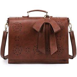 ECOSUSI Women's Briefcase Vegan Leather 15.6 inch Laptop Bag for School Shoulder Computer  ...