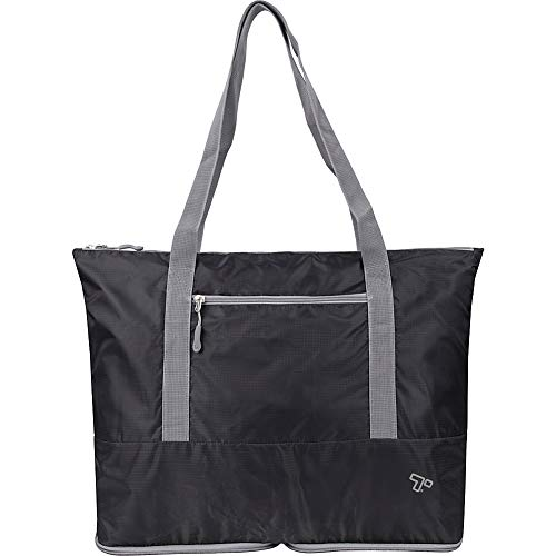 Travelon Folding Packable Tote Sling, Black, One Size