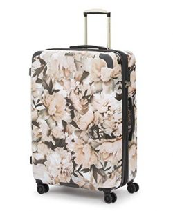 Calvin Klein 28″ Hardside Spinner Luggage with TSA Lock, Floral/White
