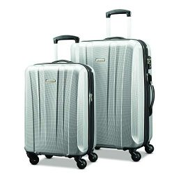 Samsonite Pulse Dlx Lightweight 2 Piece Hardside Set (20″/28″), Silver, Exclusive to ...