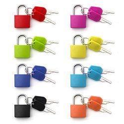 8 Pack Padlock, Small Padlock with Key for The Luggage Lock, Backpack,Gym Locker Lock,Suitcase L ...