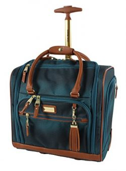 Steve Madden Luggage Wheeled Suitcase Under Seat Bag (Shadow Turquoise)