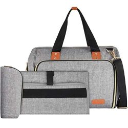 Baby Diaper Bag,VBIGER Large Tote Convertible Travel Baby Bag for Boys Girls with Changing Pad,  ...