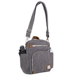 Travelon Anti-Theft Heritage Tour Bag, Pewter – 33074 540