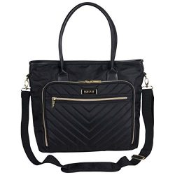 Kenneth Cole Reaction Twill with Quilted Chevron 15″ Laptop Tote Black One Size