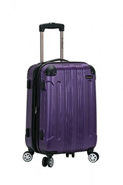 Rockland 20″ Expandable Carry On, Spinner Luggage, Purple