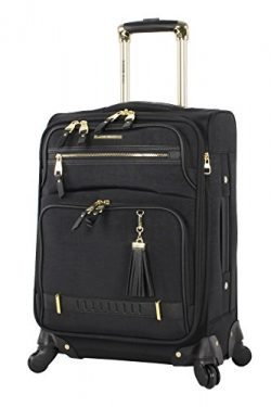 Steve Madden Luggage Carry On 20″ Expandable Softside Suitcase With Spinner Wheels (20in,  ...