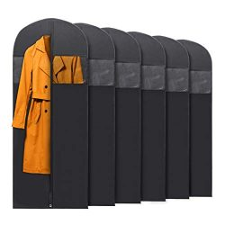 PLX Hanging Long Black Garment Bags for Storage and Travel – Suit Bag, Dress Shirt, Coat a ...
