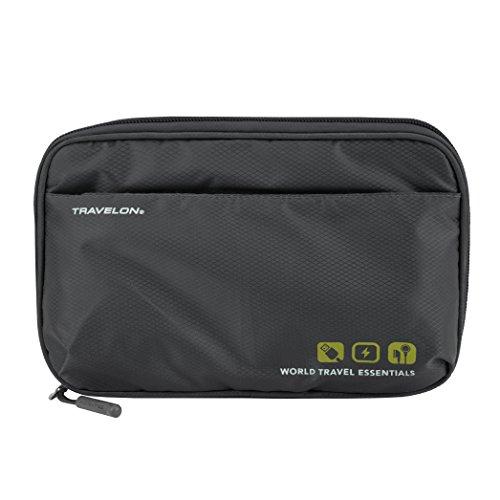 Travelon World Travel Essentials Tech Organizer, Graphite