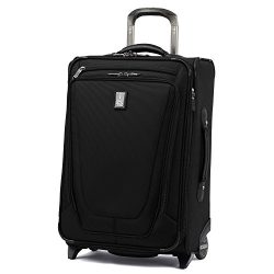 Travelpro Luggage Crew 11 22″ Carry-on Expandable Rollaboard w/Suiter and USB Port, Black