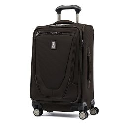 Travelpro Luggage Crew 11 21″ Carry-on Expandable Spinner w/Suiter and USB Port, Mahogany  ...