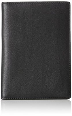 AmazonBasics Leather RFID Blocking Passport Holder Wallet – 6 x 4 Inches, Black